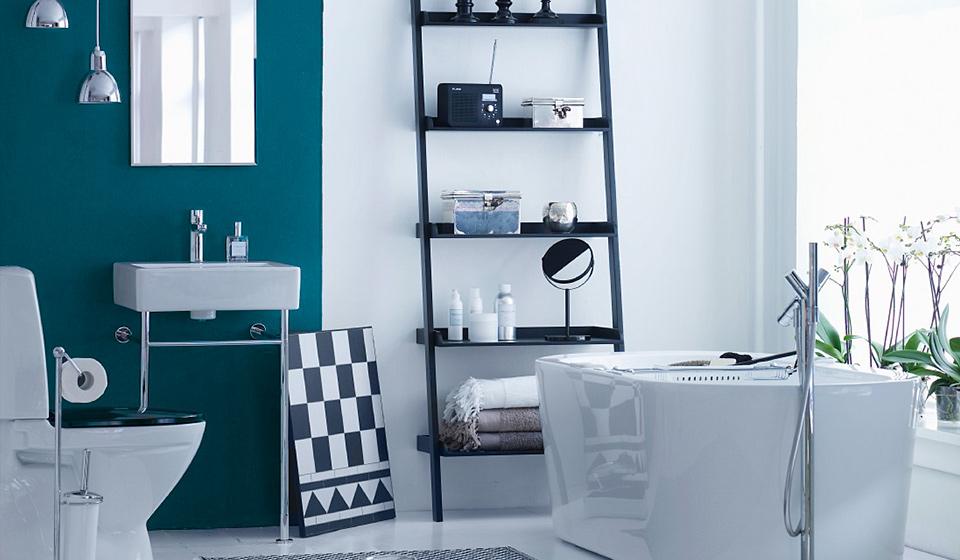 farbige w nde im bad. Black Bedroom Furniture Sets. Home Design Ideas
